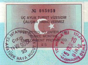 Visum Turkije 15 euro